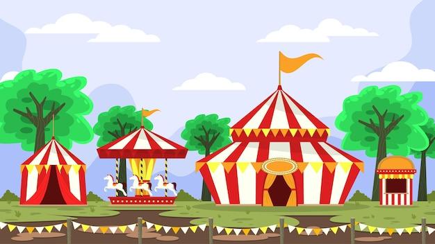 Carnaval circus -  exterior scenes