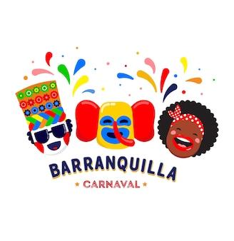 Carnaval de barranquilla, colombian carnival party.