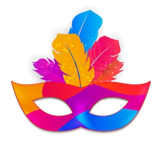 Carnaval mask icon isolated
