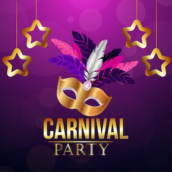 Carnaval party background color
