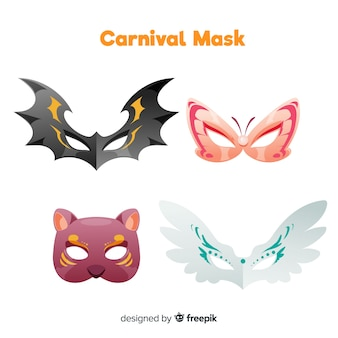 Carnival animal mask collection