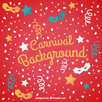 Carnival background in colore rosso
