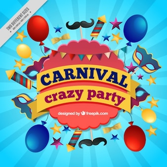 Carnival background with colorful party elements