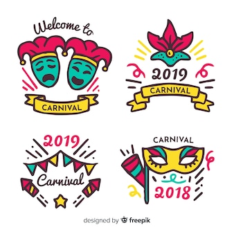 Carnival badge collection