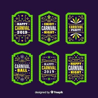 Carnival badge set Free Vector