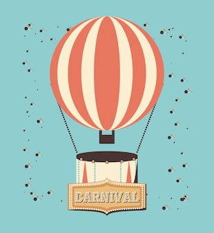 Carnival balloon air hot vector illustration design