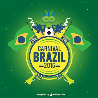 Carnival brazil 2016 background