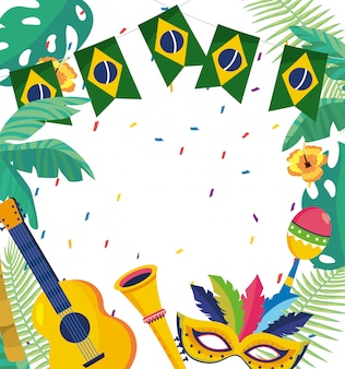 Carnival celebration brazil background