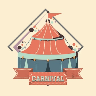Carnival circus tent icon vector illustration design