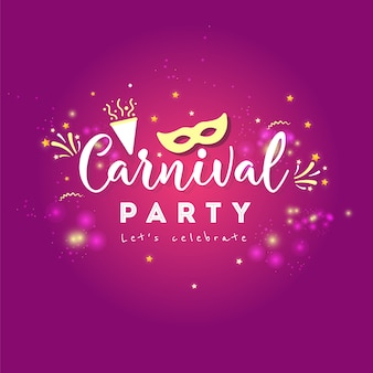Carnival concept banner with on shiny background.