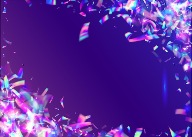 Carnival confetti. blur carnaval gradient. falling glare. fiesta foil. transparent effect. glitter art. blue party sparkles. disco prism. pink carnival confetti