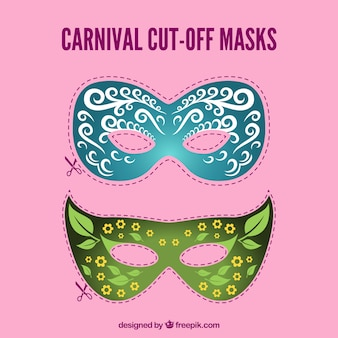 Carnevale tagliato maschere