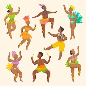 Коллекция карнавальных танцоров