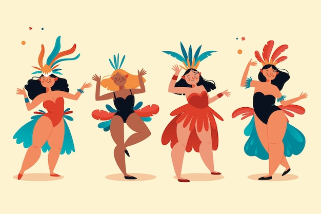 Carnival dancers collection