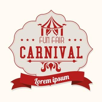 Carnival design over white background vector illustration