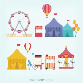 Carnival fair cartoons
