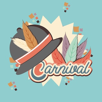 Carnival feather hat accessory