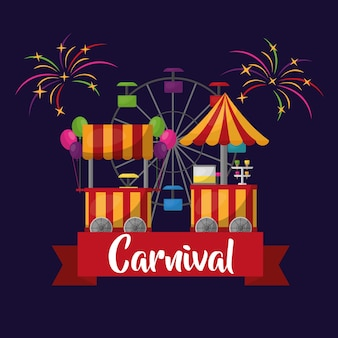 Carnival festival ferris wheel