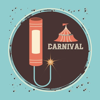 Carnival fireworks rocket icon vector illustration design