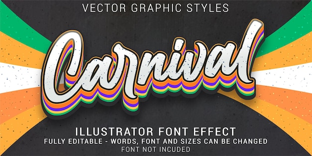 Carnival graphic styles editable text effect