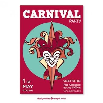 Carnival jester poster