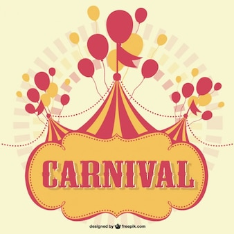 Carnival marquee with balloons background