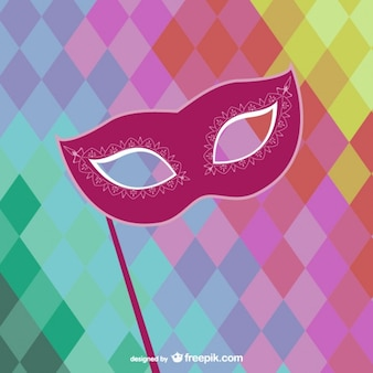 Carnival mask with colorful background