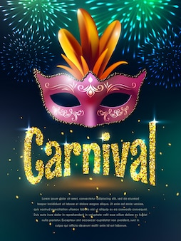 Carnival masquerade background poster