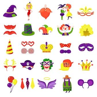 Carnival masquerade big colorful set