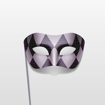 Карнавальная маскарадная маскарадная маска на палочке