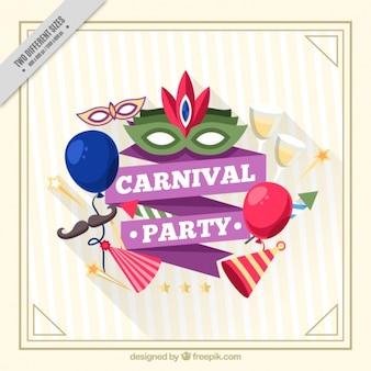 Carnevale parte di fondo con elementi