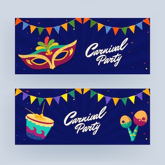 Carnival party banner set