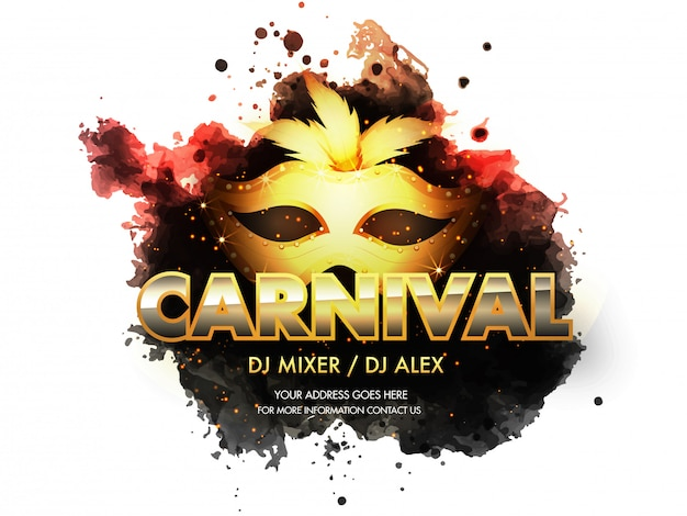 Carnival party banner .