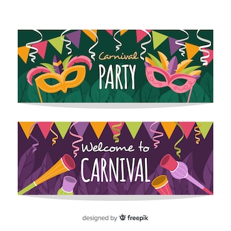 Carnival party banner