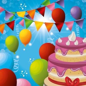Carnival party celebration card