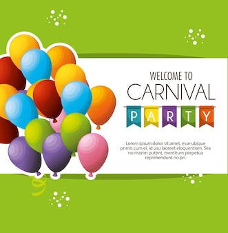 Carnival party celebration card