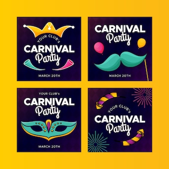 Carnival party concept for instagram post collection