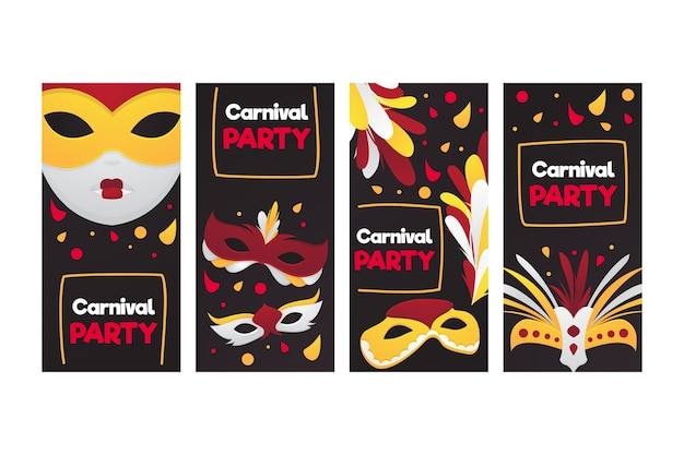 Carnival party instagram stories collection