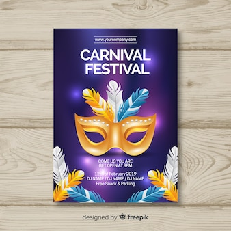 Carnival party poster tempalte