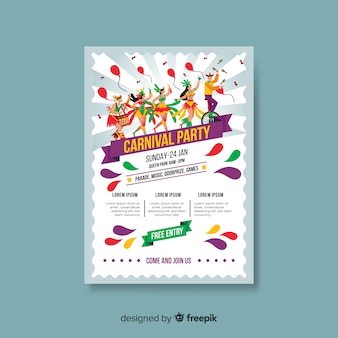 Carnival party poster template
