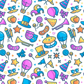Carnival pattern background