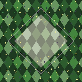 Carnival pattern green background