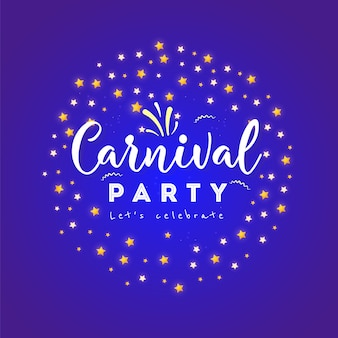 Carnival poster, banner with colorful party elements