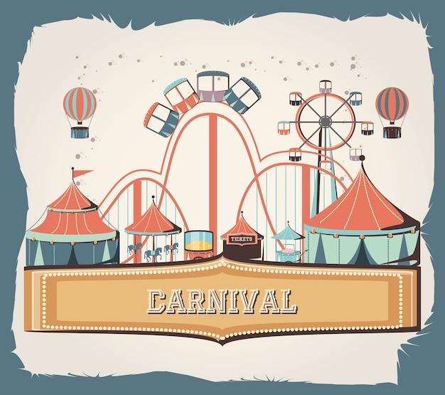 Carnival set collection icons vector illustration design