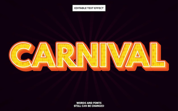 Carnival style editable text effect