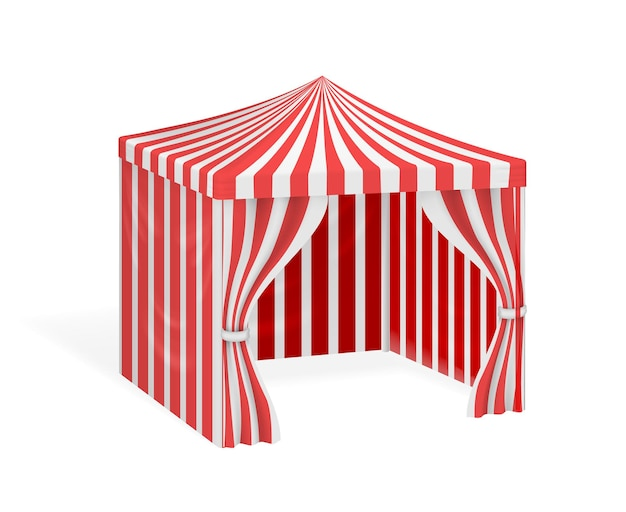 Carnival tent for outdoor party event. striped marquee for circus.