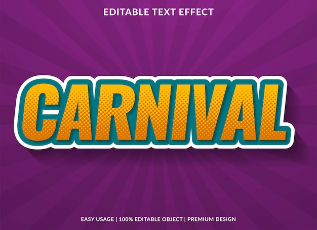 Carnival text effect with retro style