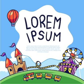 Carnival theme park template