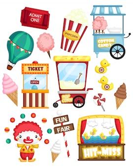 Carnival vector set