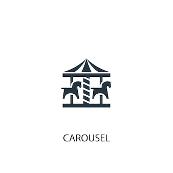 Значок карусели. простая иллюстрация элемента. дизайн символа концепции карусели. может использоваться в интернете и на мобильных устройствах.